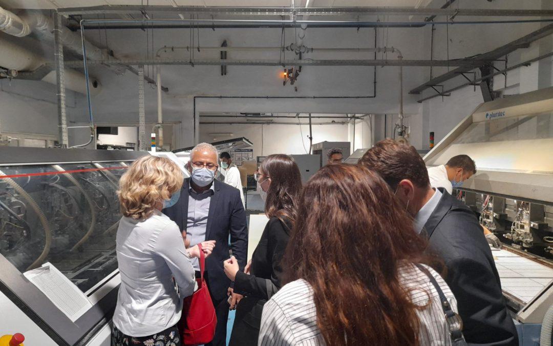 Visite de Fuba, entreprise modèle en matière de transition écologique